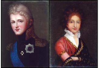 Парные портреты императора Александра I и императрицы Елизаветы Алексеевны