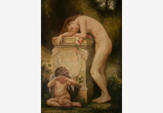 Девушка с плачущим ангелом