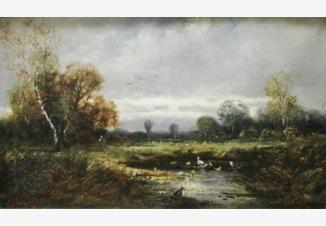 Прачка у пруда