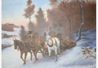 Русская упряжка зимой