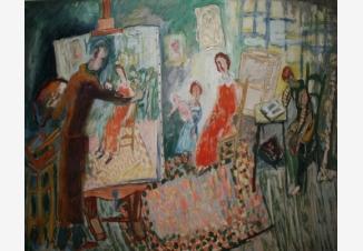 Сцена в ателье художника