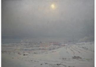 Морозный день на Мамаевом кургане