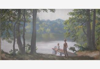 Дети у пруда