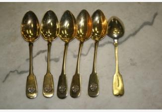 Ложки десертные с гербом на черенке (6 шт.)