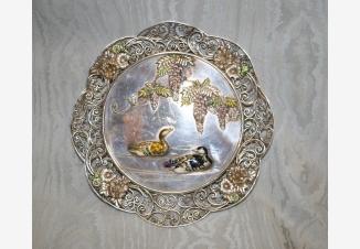 Серебряное панно