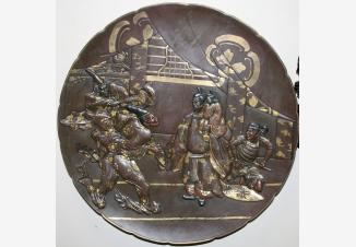 Тарелка настенная с самураями «Визит к сегуну»