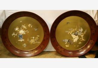 Пара настенных тарелок сибаяма
