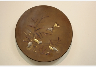 Тарелка настенная «Цапли»