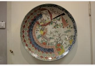 Тарелка настенная «Цветы и птицы»