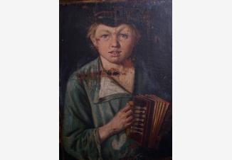 Портрет мальчика с гармошкой