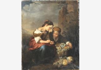 Маленькая продавщица фруктов (копия картины Батоломео Мурильо 1670 г.)