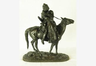 Скульптура бронзовая «Прощание казака с казачкой»