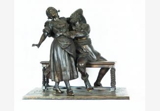 Бронзовая скульптура «В кабачке»