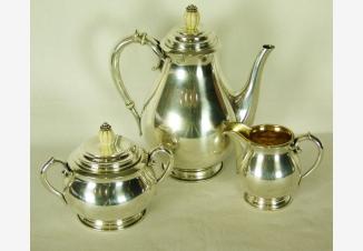 Серебряный кофейный сервиз в стиле Ар-деко