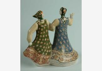 Русский танец — фарфоровая статуэтка советского периода