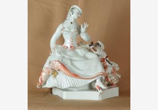 Статуэтка «Дама с негритенком»