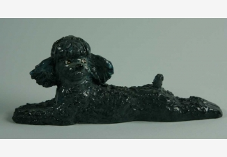 Пудель — советская фарфоровая статуэтка
