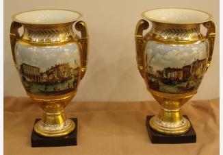 Парные вазы «Венецианские пейзажи»