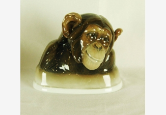 Бюст фарфоровый «Шимпанзе»