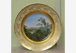 Тарелка декоративная «Замок на реке Рейн»