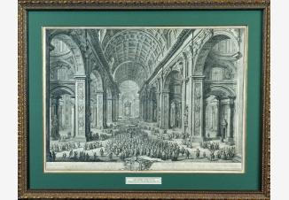 Процессия папы Пия VI в интерьере собора Святого Петра