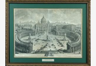 Главный вид на собор и площадь Святого Петра в Ватикане