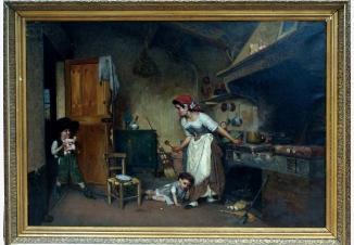 Дети, играющие на кухне