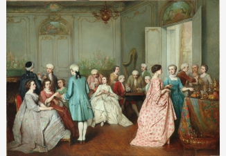 Элегантное общество в салоне