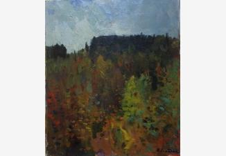 Осень. Лес на пригорке