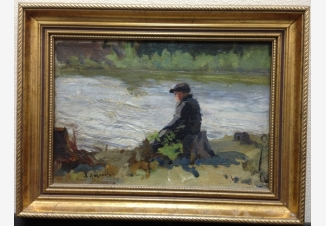 Рыбак у реки