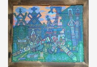 Колдуны резчики делают языческих богов