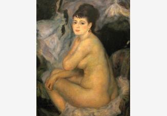 Нагая женщина, сидящая на кушетке (Копия О. Ренуара)