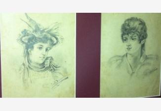 Пара картин- портрет юноши и девушки