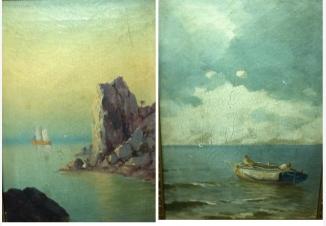 Морской пейзаж (пара картин)