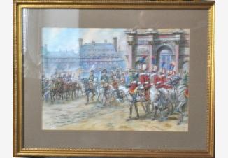 Наполеон едет со своей гвардией