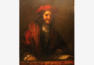 Мужчина в красной шляпе (копия, приписывается Рембрандту)
