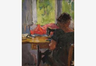 Женский портрет в интерьере