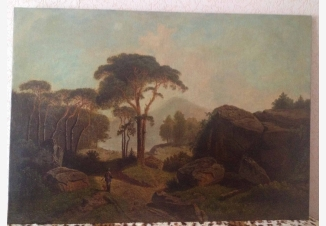 Пейзаж с охотником