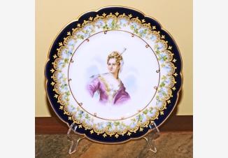 Тарелки декоративные «Короли и знатные дамы Франции», 9 штук
