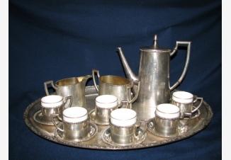 Серебряный кофейный сервиз на 6 персон