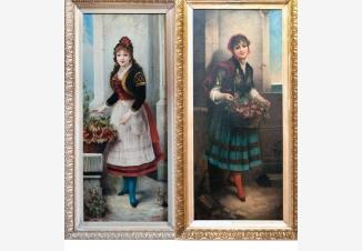 Портрет девушки (парные картины)